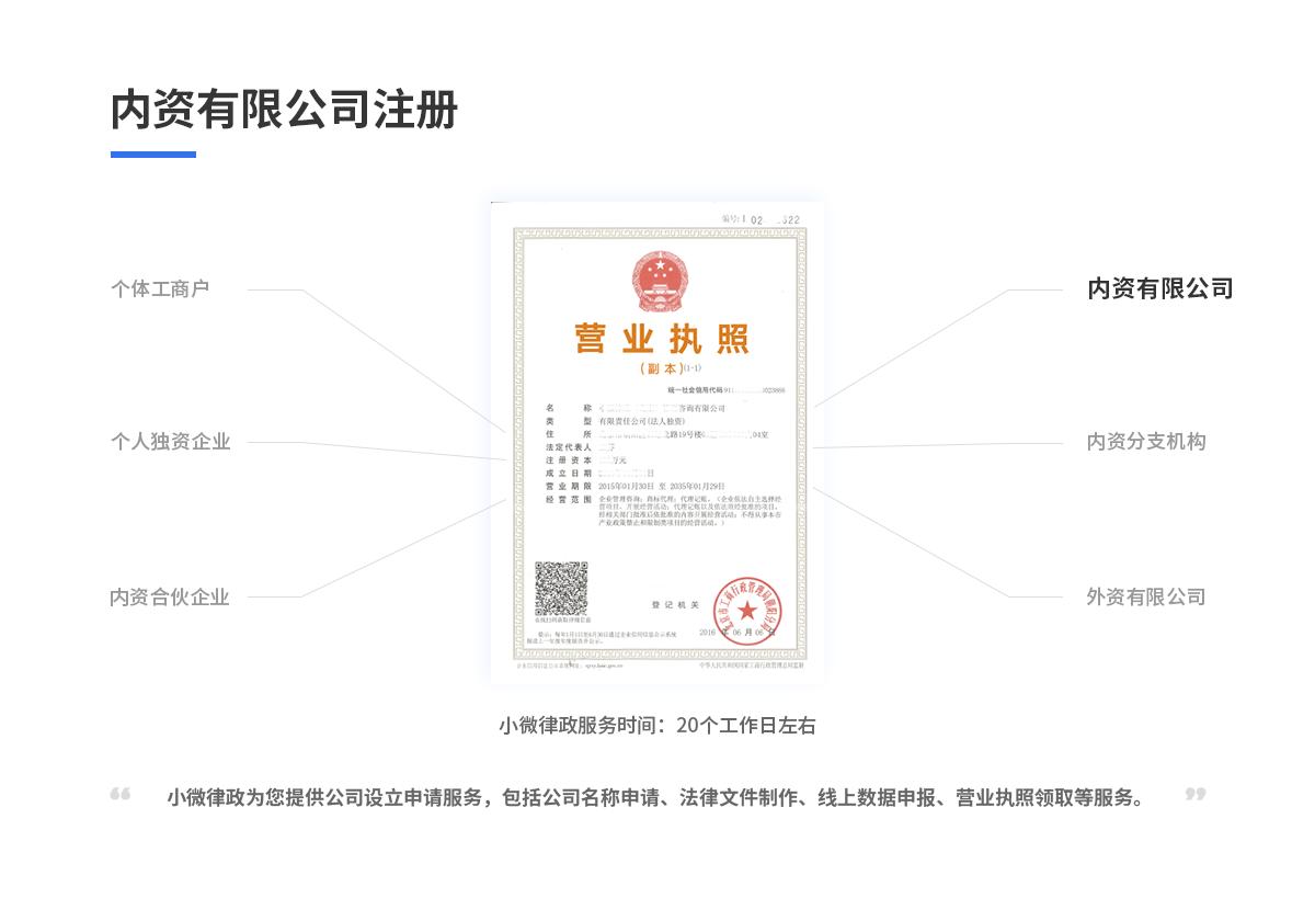 内资有限公司注册(默认)14316752395668120